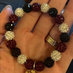 Burgundy white and black beads 100% authentic